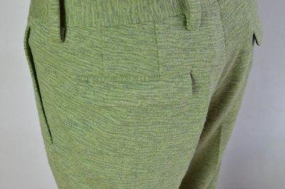 画像2: AUGUSTE-PRESENTATION(オーギュストプレゼンテーション) 2重ジャガード天竺圧縮 SLACKS [杢GREEN]