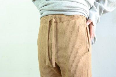 画像1: 【MORE SALE】UNUSED (アンユーズド) 7G knit pants [camel]
