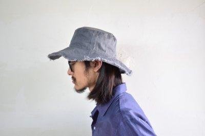 画像2: COMESANDGOES (カムズアンドゴーズ) CUT END DENIM HAT [2-colors]