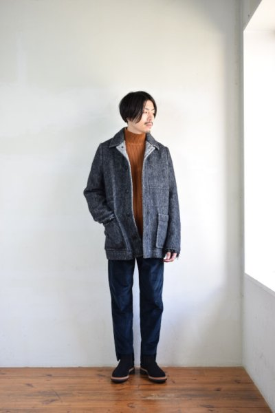 画像3: 【MORE SALE】MAISON FLANEUR / Knited Mohair Jacket [BLACK]