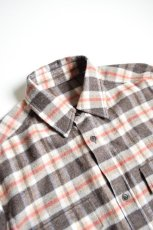 画像3: 【MORE SALE】URU (ウル) WOOL CHECK L/S SHIRTS [ORANGE×BROWN] (3)