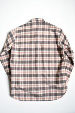 画像2: 【MORE SALE】URU (ウル) WOOL CHECK L/S SHIRTS [ORANGE×BROWN] (2)