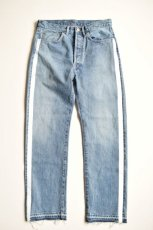 画像6: 【MORE SALE】UNUSED (アンユーズド) 13.5oz side print denim pants longlength / UW0728 [indigo]  (6)