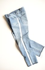 画像1: 【MORE SALE】UNUSED (アンユーズド) 13.5oz side print denim pants longlength / UW0728 [indigo]  (1)