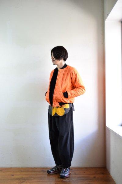 画像1: 【MORE SALE】m's braque (エムズ ブラック) REVERSIBLE MA-1 [BLACK casentino/orange キルト]