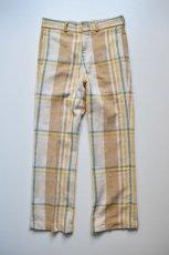 画像5: 【MORE SALE】UNUSED (アンユーズド) check nel pants / UW0816 [beige]  (5)