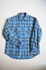 画像5: 【MORE SALE】UNUSED (アンユーズド) check nel shirt / US1696 [blue×red×yellow]  (5)