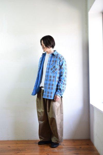 画像1: 【MORE SALE】UNUSED (アンユーズド) check nel shirt / US1696 [blue×red×yellow]
