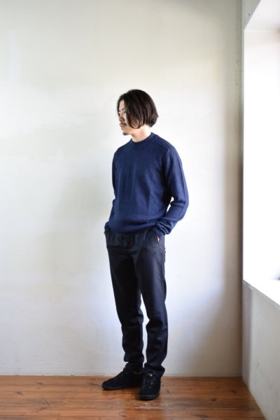 画像1: 【MORE SALE】DE BONNE FACTURE / DRAWSTRING TROUSERS [NAVY]