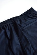 画像7: 【MORE SALE】DE BONNE FACTURE / DRAWSTRING TROUSERS [NAVY] (7)