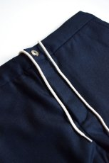 画像6: 【MORE SALE】DE BONNE FACTURE / DRAWSTRING TROUSERS [NAVY] (6)