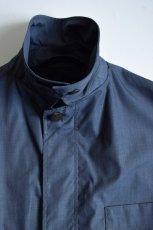 画像7: STUDIO NICHOLSON (スタジオニコルソン) COATED TECH COTTON TECHNICAL CAR COAT [BLUE GREY] (7)