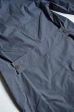 画像8: STUDIO NICHOLSON (スタジオニコルソン) COATED TECH COTTON TECHNICAL CAR COAT [BLUE GREY] (8)