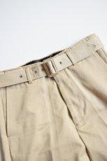 画像6: 【MORE SALE】UNUSED (アンユーズド) belted pants / UW0840 [beige]  (6)