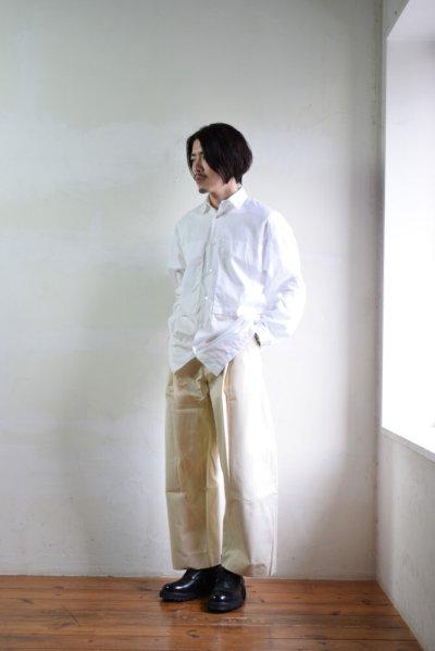 画像1: STUDIO NICHOLSON (スタジオニコルソン) PEACHED COTTON TWILL VOLUME PLEAT PANTS [CREAM]