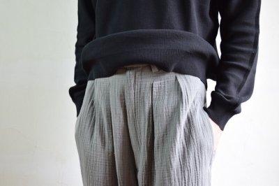 画像2: 【SALE】m's braque (エムズ ブラック) HARLEM PANTS [GREY ダブルガーゼ 備長炭染め]
