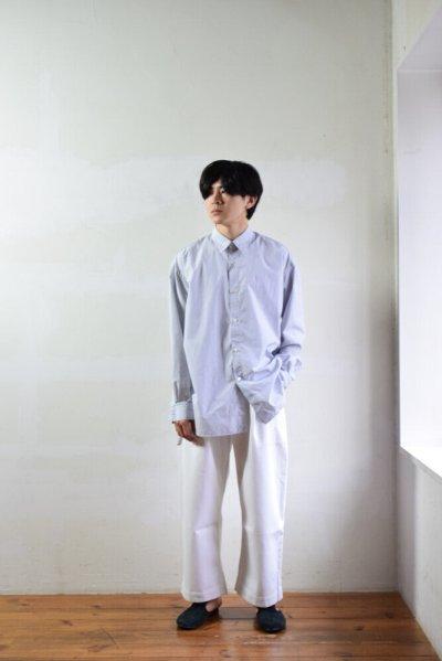 画像1: STUDIO NICHOLSON (スタジオニコルソン) SELVEDGE DENIM PANT [OPTIC WHITE]