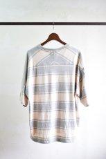画像6: 【SALE】UNUSED (アンユーズド) Short  Sleeve Border T-Shirt / US1951 [Gray × Beige]  (6)
