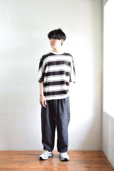 画像1: 【SALE】UNUSED (アンユーズド) Short  Sleeve Border T-Shirt / US1951 [White × Black]