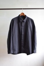 画像5: C R É E R (クリー) コットンボイルウェザー シャンブレー ワイドシャツ [DARK CHARCOAL] (5)