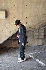 画像10: URU (ウル) for City Lights WOOL STRIPE 2 BUTTON JACKET [NAVY] (10)