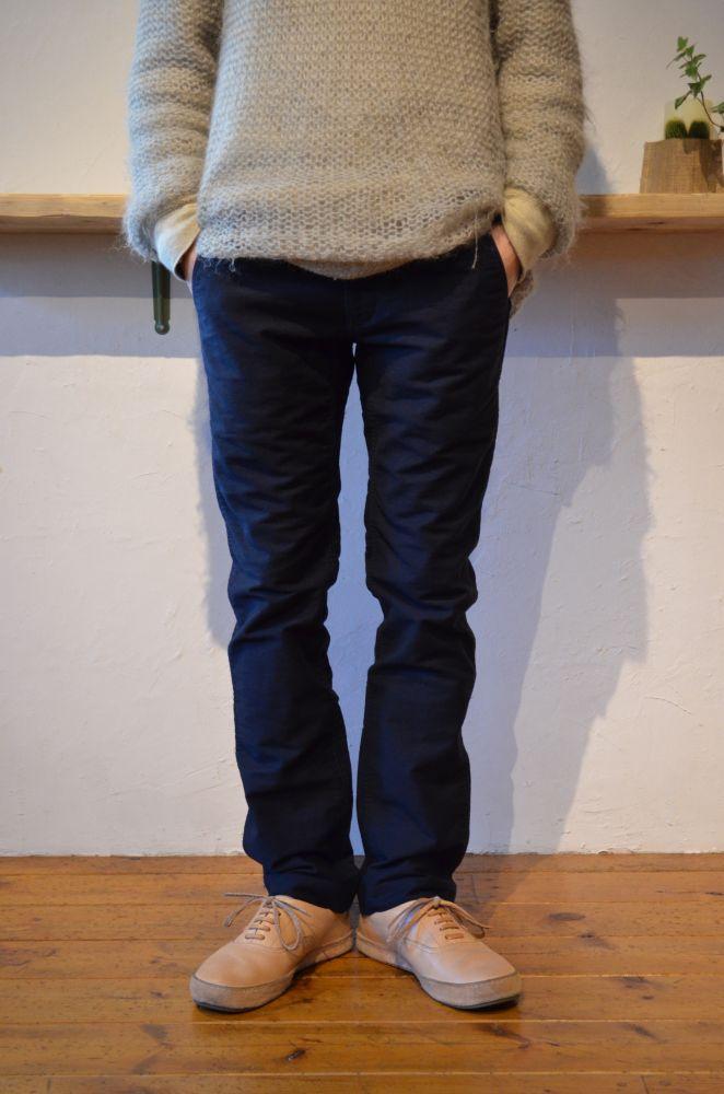 画像1: UNIVERSAL PRODUCTS (ユニバーサルプロダクツ) Chino Trousers [NAVY] (1)