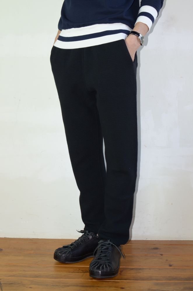 画像1: AUGUSTE-PRESENTATION(オーギュストプレゼンテーション) WAFFLE SWEAT PANTS [BLACK] (1)