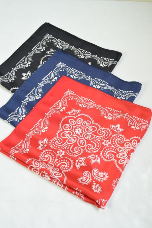 画像1: 【SALE】UNUSED (アンユーズド) Flower bandana  [3-colors] (1)