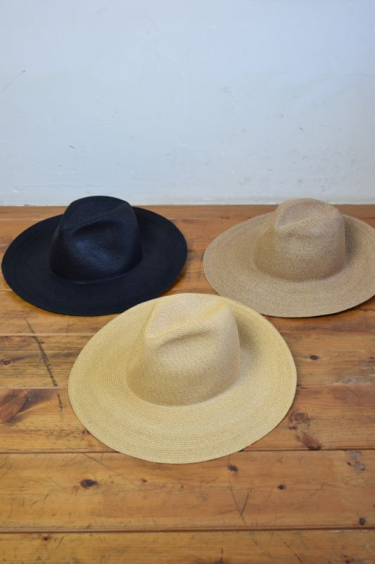"画像1: COMESANDGOES (カムズアンドゴーズ) 9cm PAPER BRAID TRAVELLER HAT ""PLAIN""  [3-colors] (1)"