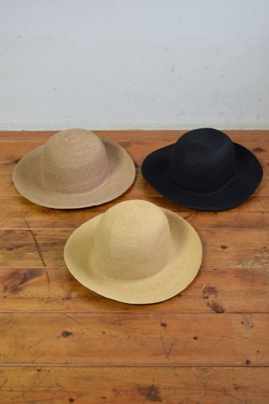 "画像1: COMESANDGOES (カムズアンドゴーズ) 8cm PAPER BRAID BOWLER HAT ""PLAIN""  [3-colors] (1)"