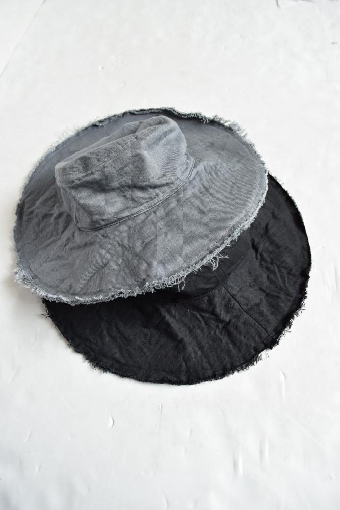 画像1: COMESANDGOES (カムズアンドゴーズ) CUT END DENIM HAT [2-colors] (1)