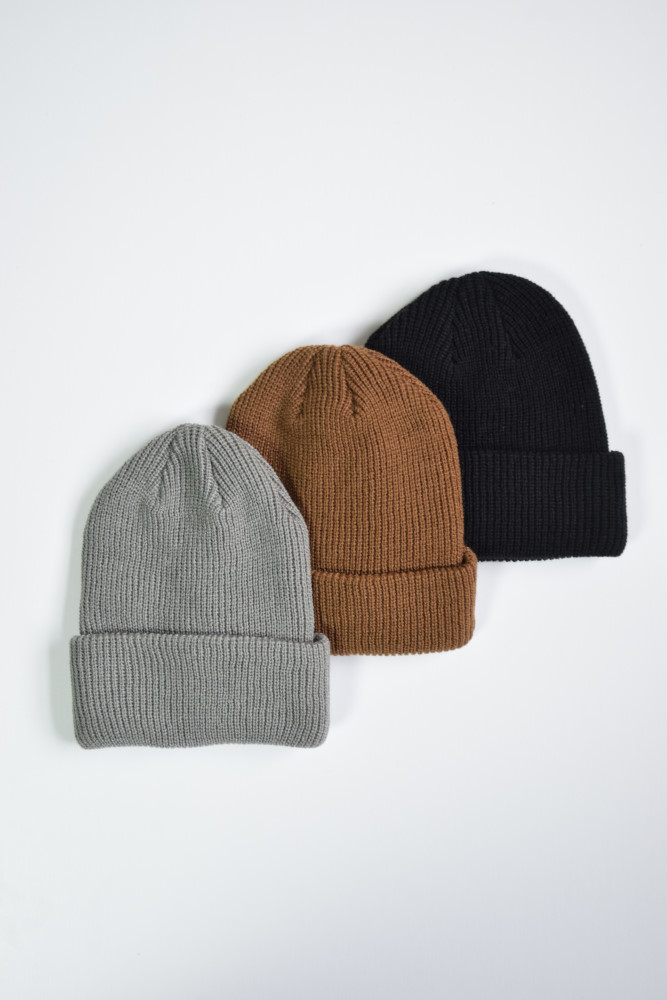 画像1: UNUSED (アンユーズド)  7G knit cap  [3-colors] (1)