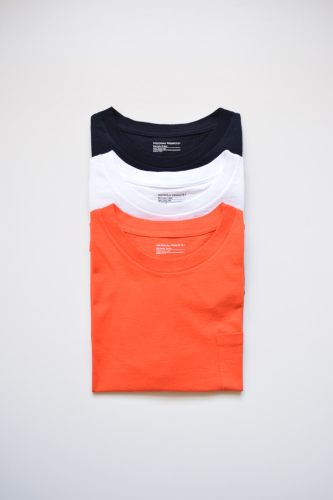 画像1: UNIVERSAL PRODUCTS (ユニバーサルプロダクツ) HEAVY WEIGHT S/S TEE [3-colors] (1)