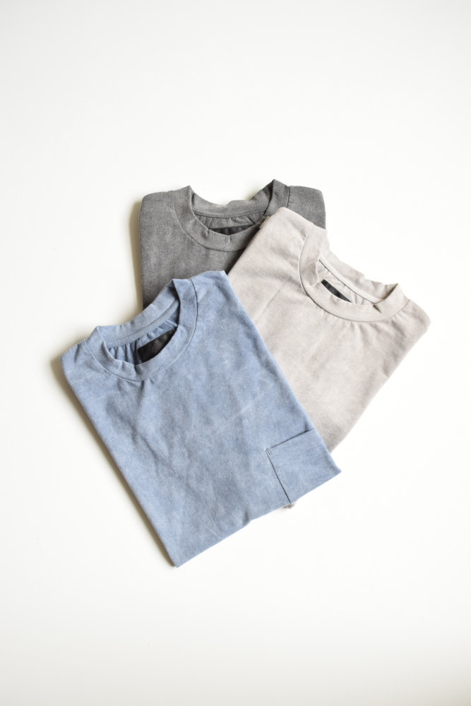 画像1: bukht (ブフト) CREW NECK POCKET T-SHIRTS -PIGMENT DYED- [3-colors] (1)