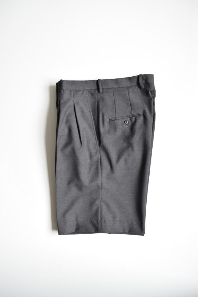 画像1: 【MORE SALE】m's braque (エムズ ブラック) DRESS WIDE SHORTS KNEE LENGTH [墨黒] (1)