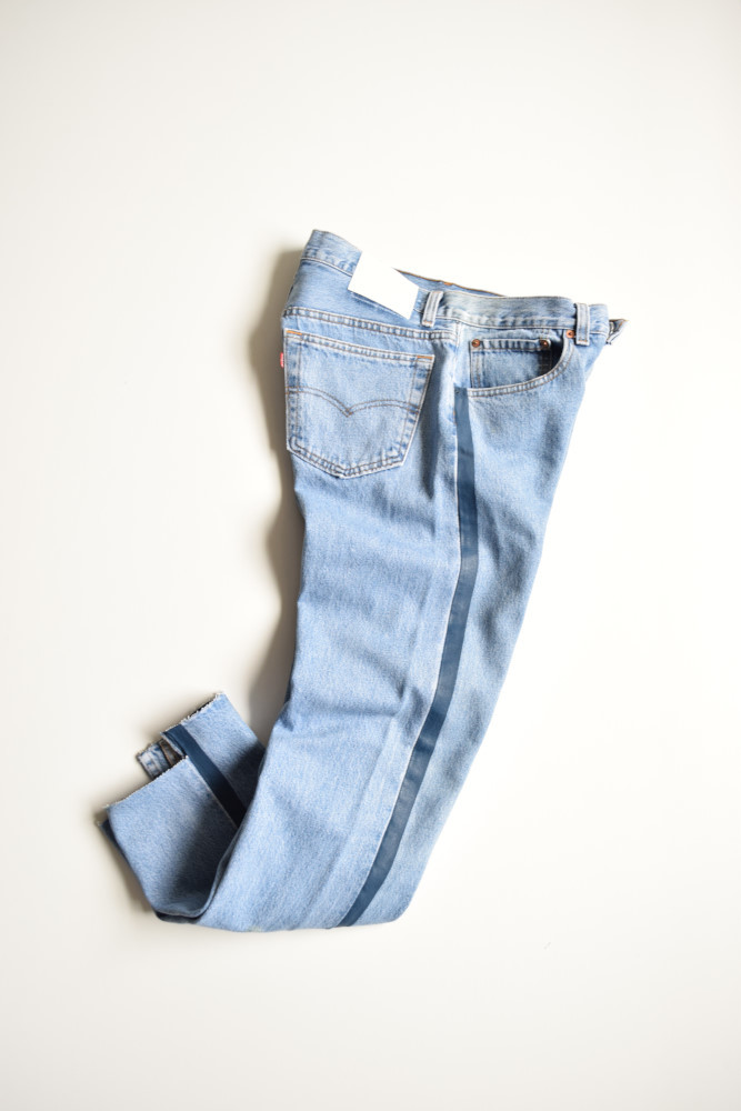 画像1: UNUSED (アンユーズド) Levi's 501 remake denim pants / UW0773 [blue line]  (1)