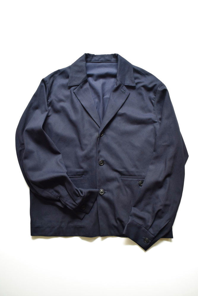 画像1: URU (ウル) COTTON RAYON JACKET [NAVY] (1)