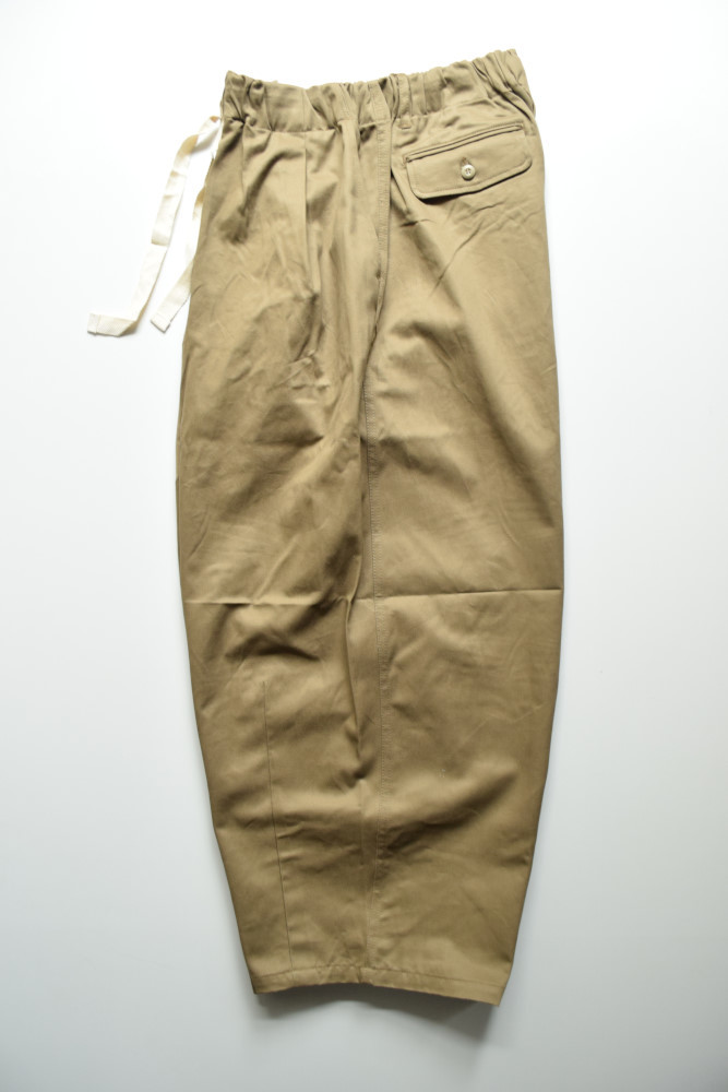 画像1: is-ness (イズネス) BALLOON EZ PANTS LONG LENGTH [BEIGE] (1)