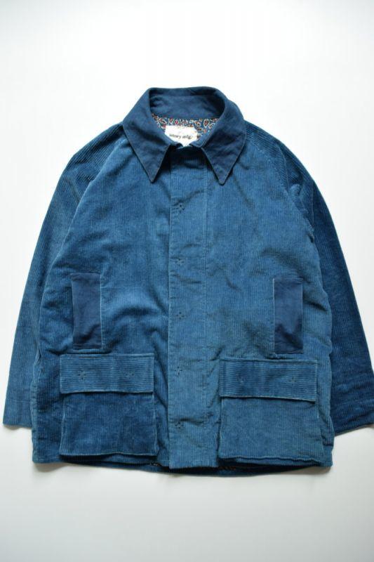 画像1: STORY mfg / Gentle Jacket [Natural Indigo Fat Corduroy] (1)