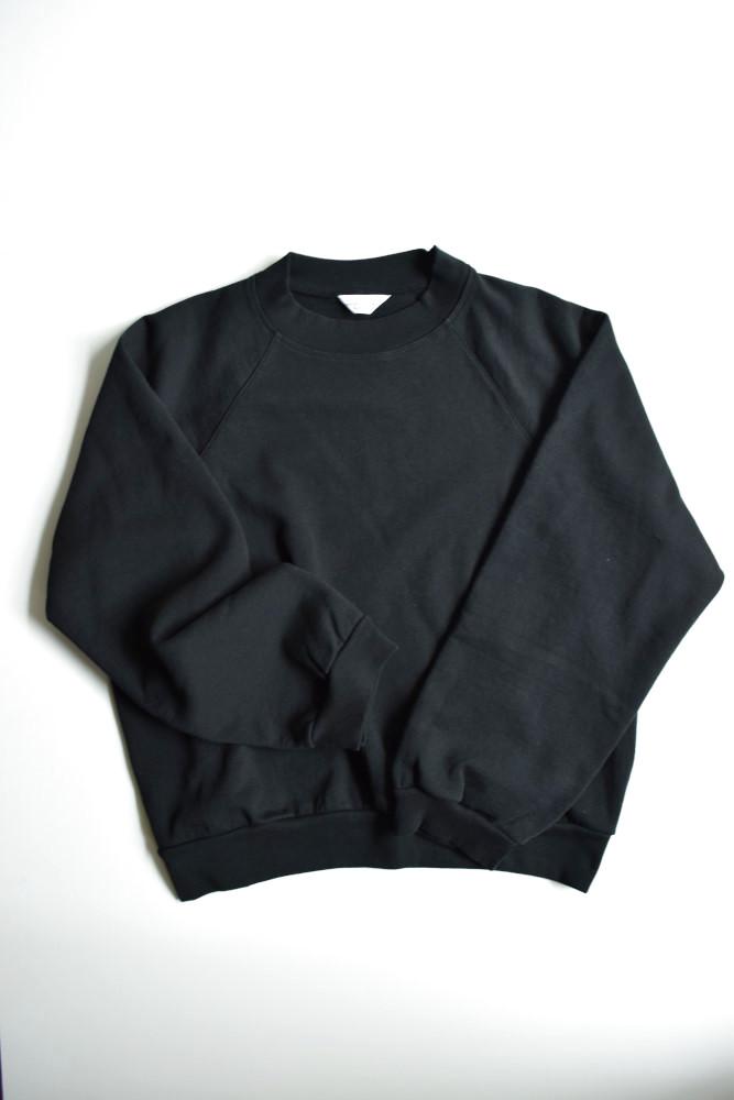 画像1: UNUSED (アンユーズド) crew neck sweat shirt / US1678 [black]  (1)