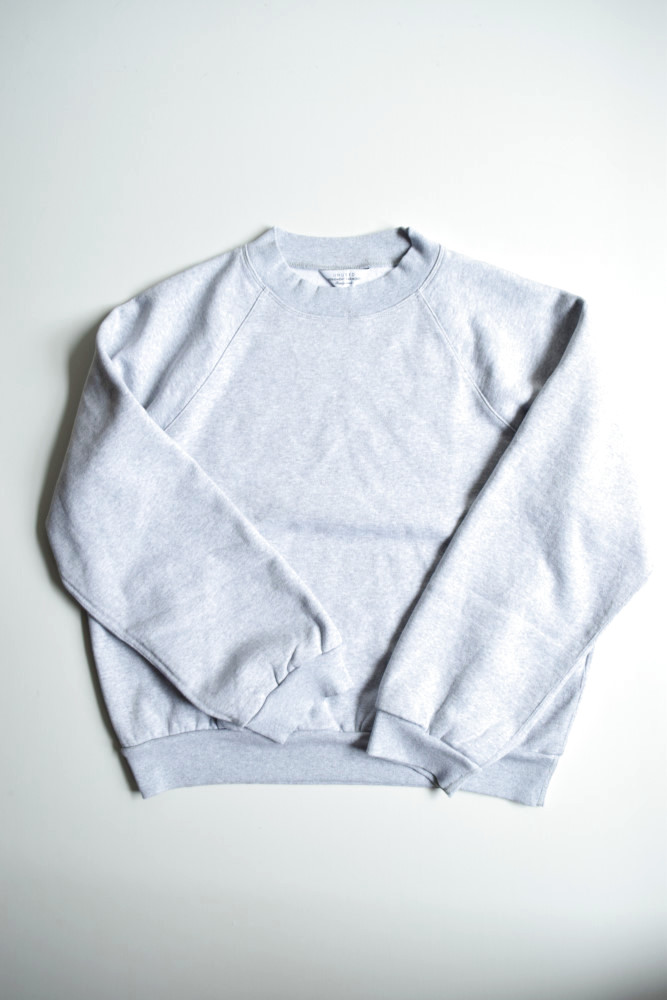 画像1: UNUSED (アンユーズド) crew neck sweat shirt / US1678 [heather gray]  (1)