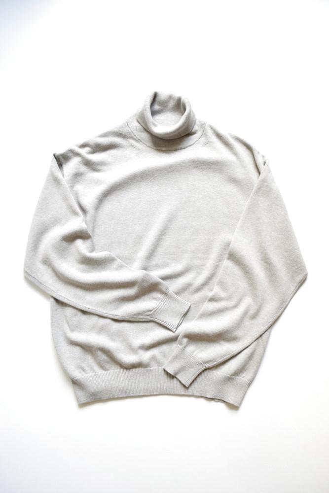 画像1: crepuscule (クレプスキュール) turtle-neck [Gray] (1)