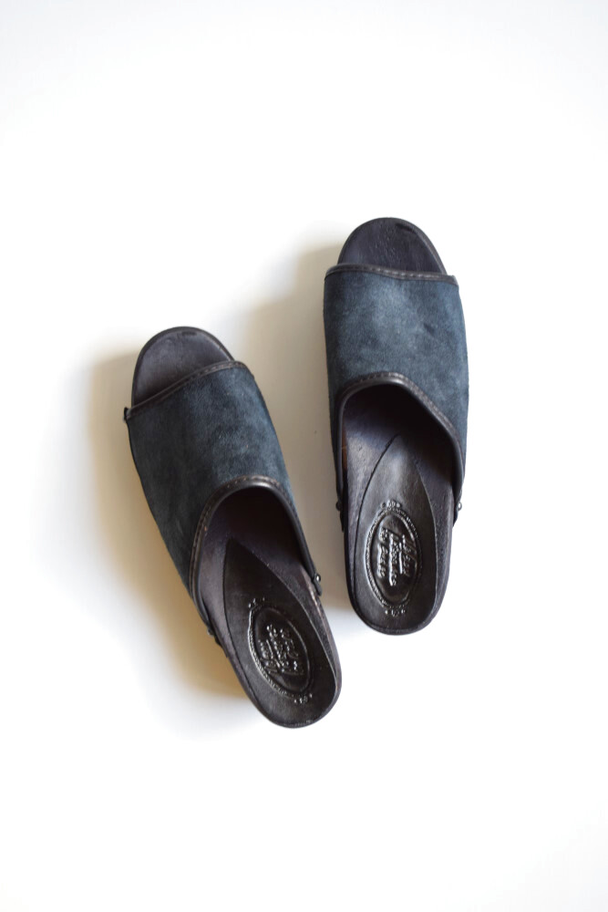 画像1: Nelson (ネルソン) Suede Sueco without Toe [BLACK] (1)