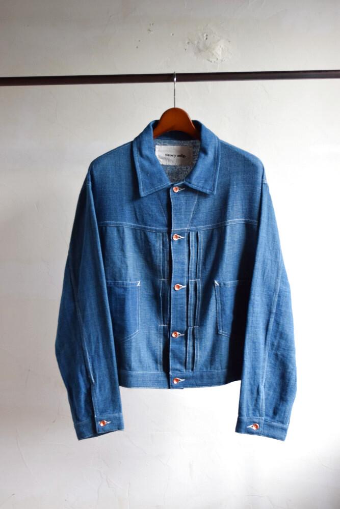 画像1: STORY mfg / Sundae Jacket [Natural Indigo Handloom] (1)