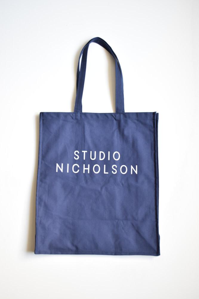 画像1: STUDIO NICHOLSON (スタジオニコルソン) COTTON CANVAS THE LARGE TOTE [DARK NAVY] (1)